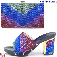 CSB7288 Africa ladies 2016 women shoes matching bag fashion top sell shoes with purse on sale