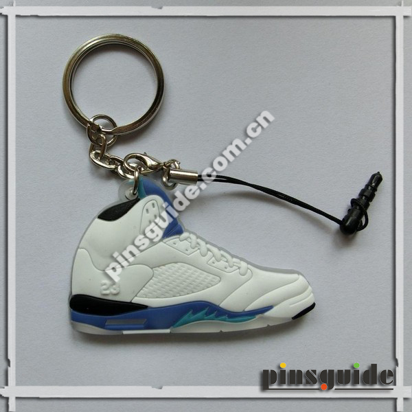 Custom PVC 23 Number Mini Sneaker Keychains Wholesale