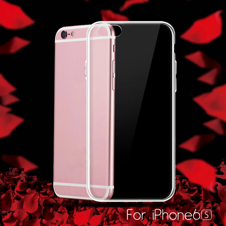 For iPhone 6s Case Full Cover TPU Ultrathin Soft Claer Phone Case