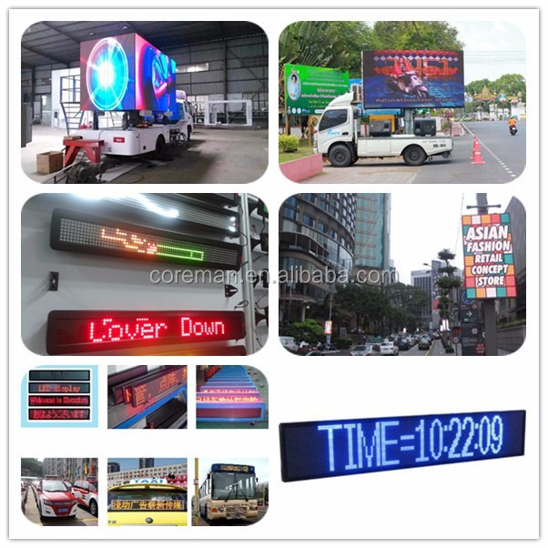 Double Side Taxi LED Display taxi top advertising p5 outdoor high brightness advertising led panel