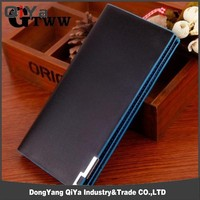 Hot selling man leather wallet ,genuine leather wallet case