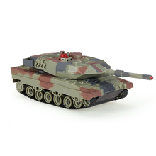 147500-H500 1/36 German Leopard IIA6 Infrared Shooting Bluetooth Gravity Induction RC Battle Tank