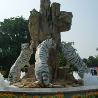 outdoor garden decoration stone carvings marble tiger sculpture