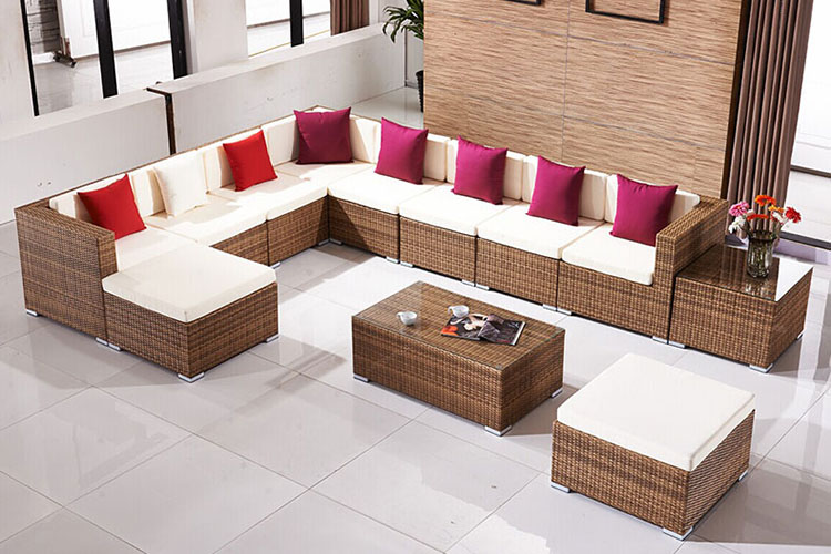 Valencia L-Shaped Outdoor Wicker Sectional Sofa by Patio Republic Hotel Garden General Use