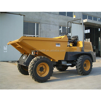 China high quality suitable price 3tons 4wd site dumper