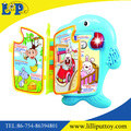 Cartoon dolphin learning book toy with light and music