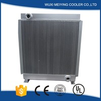 New design Aluminum Brazed high quality excavator radiator