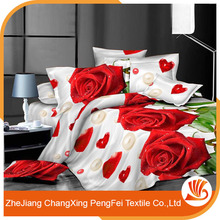Microfiber 100% polyester flower print bedsheet fabric for home textile