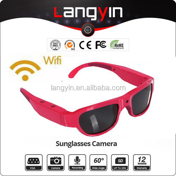 Newest WIFI ABS+PC Frame 1080P HD Sunglasses Camera Manual WITH WIFI HD sunglasses camera