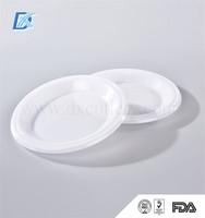 Food Grade PP Cheap Wholesale White Hard Plastic Disposable Plates