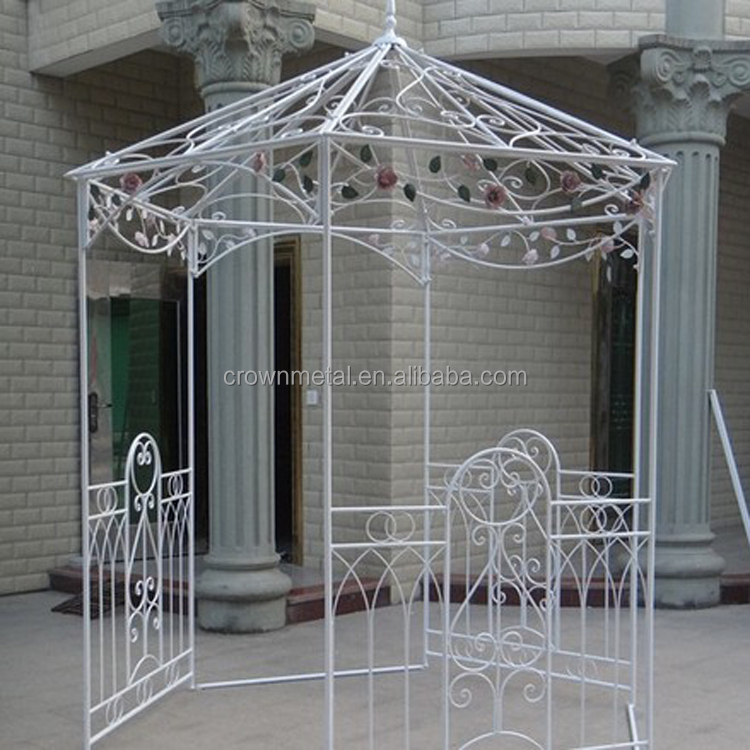 Garden ornamental antique iron metal pavilion