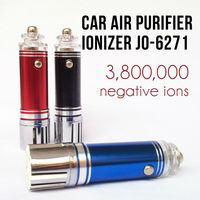New Mini Car Air Fresh Electrostatic Air Purifier Ionizer Oxygen Bar Ionizer Cleaner 12V