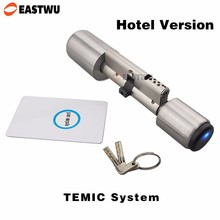 European Electronic Cylinder for Mortise Door Lock Smart Card Core Cylinder RF Card TEMIC System with Hotel Management Software