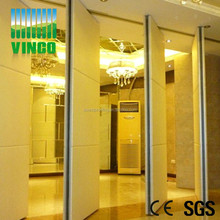 meeting room partition wall of leather materials decoration