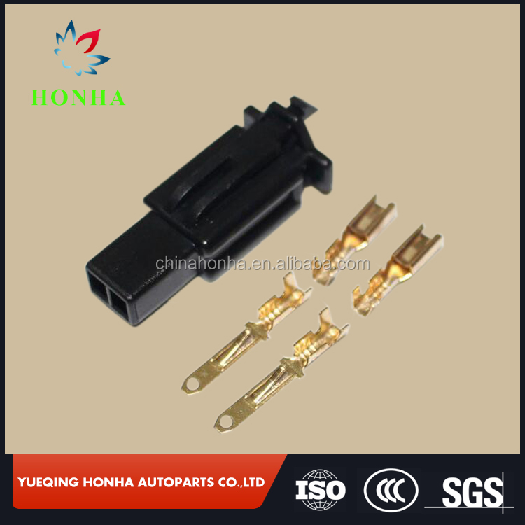 2.8mm Black 2 Way/pin electrical wire auto/car Connector for E-Bike,Automobile,Motorcycle