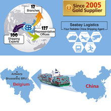 Cheap ocean sea freight container shipping forwarder from china to belgium