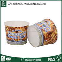 Potato chip container french fries paper cup with custom printing