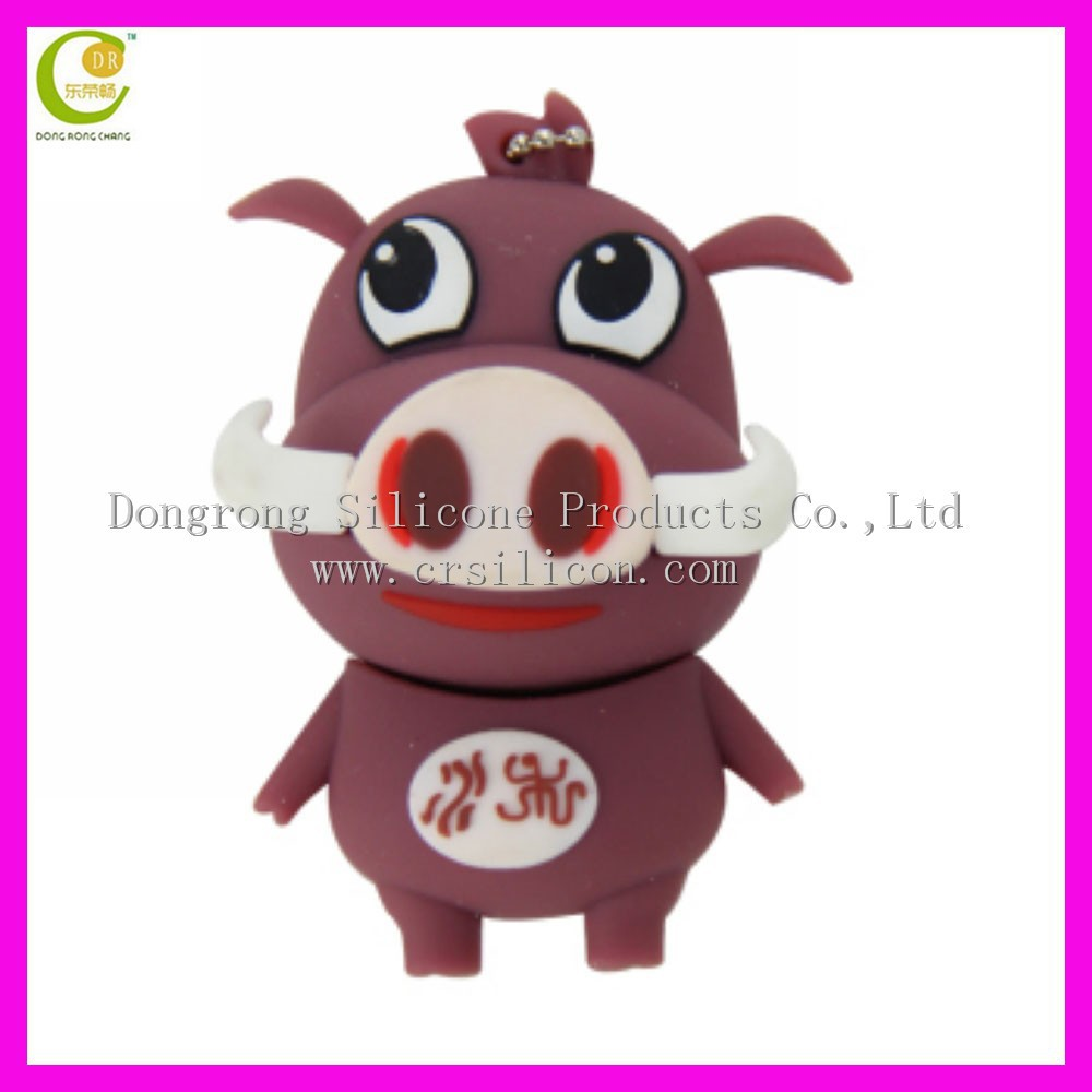 Customised 2D/3D Rubber USB Flash Drive,special cartoon pvc rubber usb