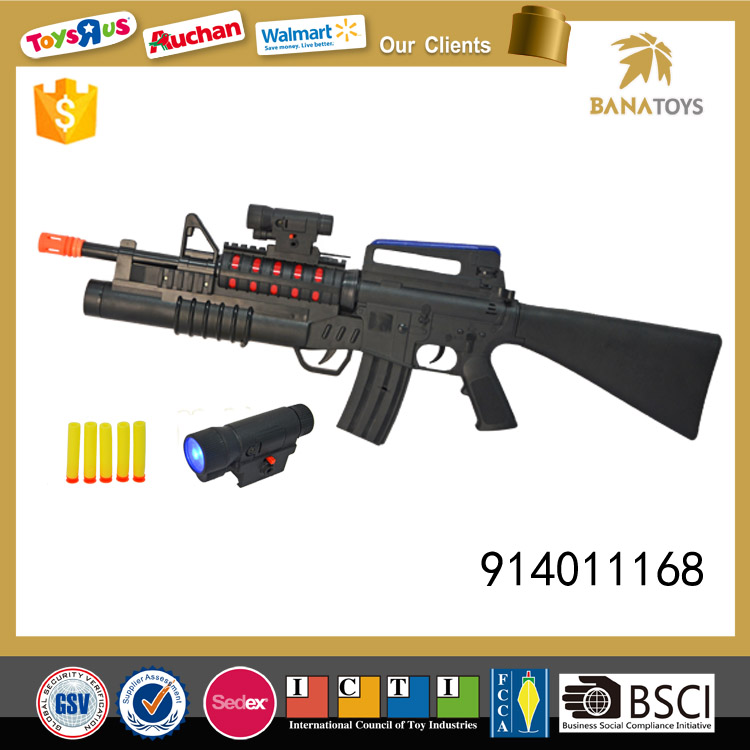 Electric safe toy plastic gun with light and sound