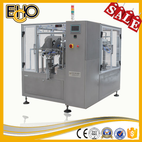 Intelligent high speed bag given counting stainless full automatic rotary kerala food filling and sealing equipment