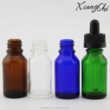 different color glass bottle for the cigarette liquid smoke oil