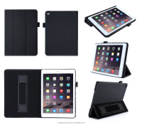 With Hand Holder And Card Slots Wholesale PU Leather High Quality Tablet Case For Ipad Air 2 For Ipad 6