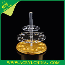 Acrylic Gold 12 round hole rotation bullet cup holders/cup display series/Bar suppliers