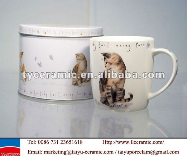 porcelain tin box coffee mug kubek