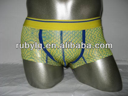 Nude Color Rubber Latex Sexy transparent guangzhou rubber Men underwear company