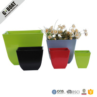 Colorful Plain Paint Square Flower Pot