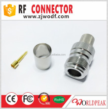 ferrule N Female rf connector crimp type for lmr400 cable