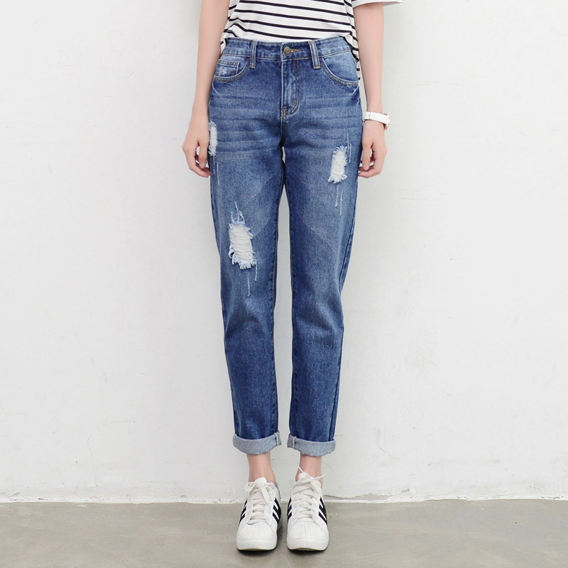 New Fashion Women High Waist Female Harem Pants industry supply co soft jeans