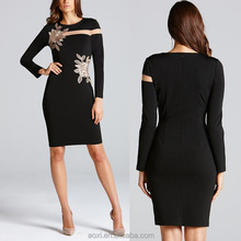 New season fashion clothing factory long sleeve fancy new model casual dress for ladies