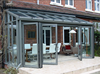 Frameless single glass folding door with hardware for the building
