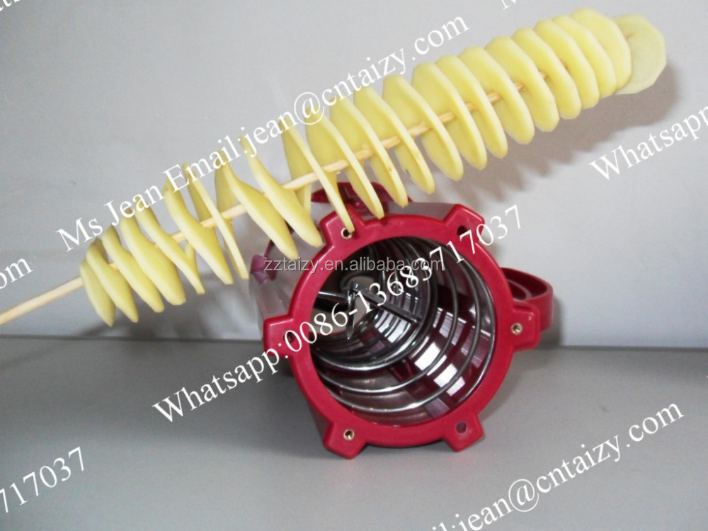 ABS Plastic Twister Tornado Spiral Potato Cutter / Sliver Potato Chips Cutting Machines for Sale