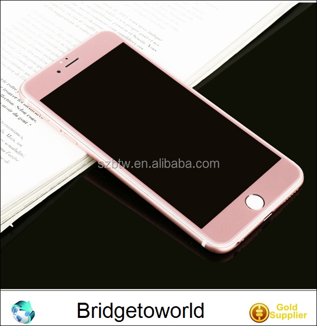 Mobile Phone use silk printing Colorful Tempered glass screen protector for iPhone 6S 6S Plus 7 7Plus