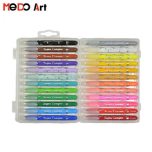 Plastic Art Twist Crayon Set 24 Pack in PP Box for Children