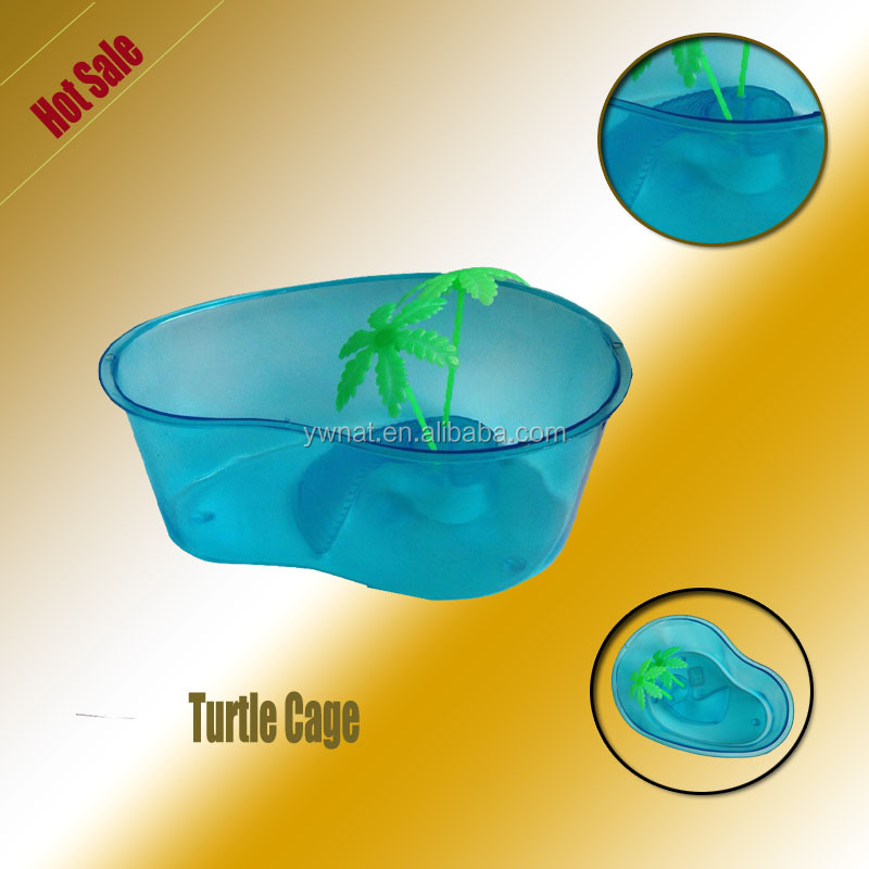 DS-9801 Blue Turtle Tank with Tree,Pet Tank for Smalll Pets
