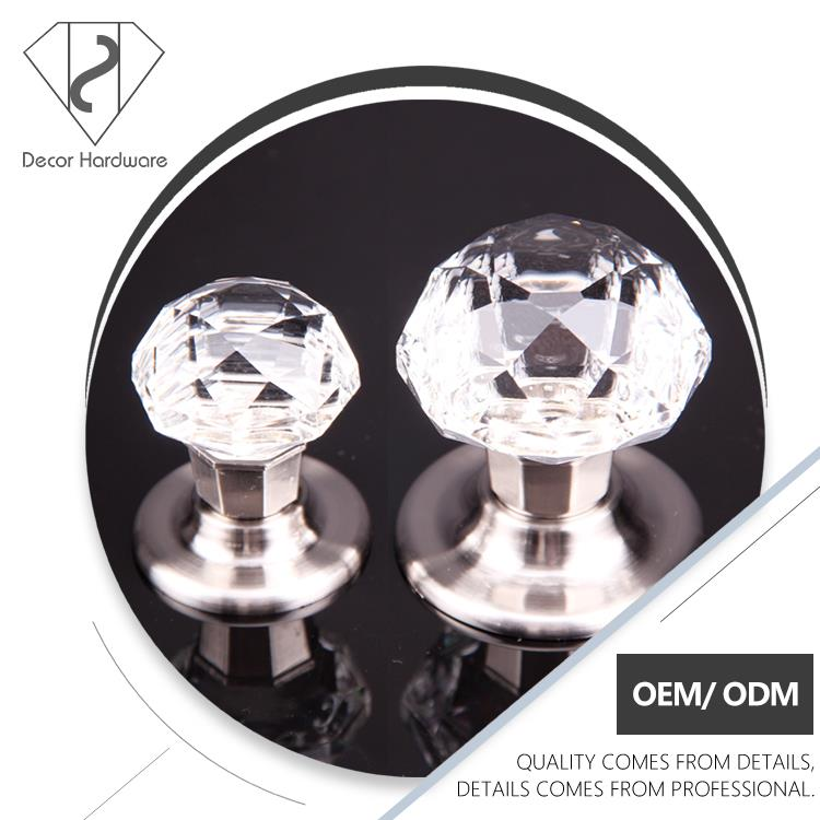 Decorative door knob grips, crystal kitchen knobs, colourful diamond crystal knob