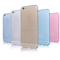 0.45mm TPU phone Smooth Skin Translucent Protective case for iPhone5G/S