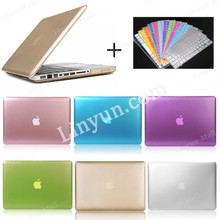 Low MOQ Multi Metal Color PC Case for Macbook Pro 13.3 inch with Keyboard Protector