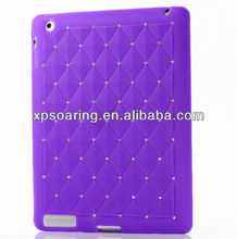 Fancy blling bling silicon cover case for ipad 3 ipad 4