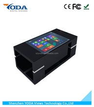 Automatic lifting LCD touch screen interactive table for cafe/hotel/restuarant