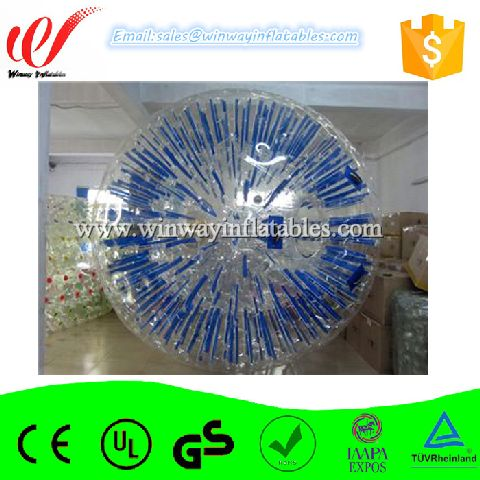 Blue color light kid size hamster ball,inflatable globe,inflatable ball AW7015