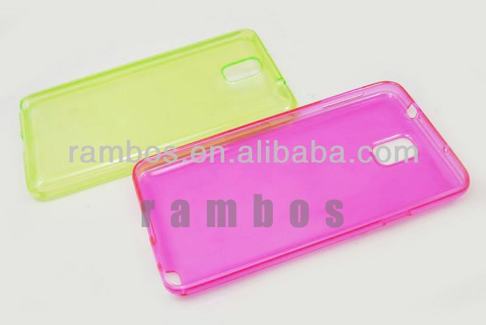 Soft Rubber TPU Gel Case Back Cover Skin for Samsung Galaxy Note 3 N9000