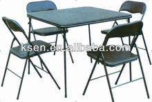 Steel MDF 4 seater dining table designs KC-CT008