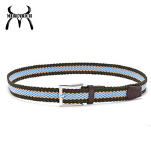 Wholesale mens striped fabric belt making supplies