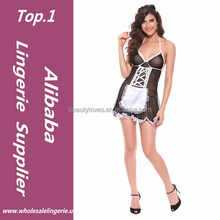 Hot sale Franch sexy Women maid costumes Sexy Mature Lingerie Maid Uniform Nightwear Sexy Night Dresses