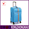 New design fanshion soft trolley luggage secret compartment custom leisure luggagewith internal handle travel luggage cover