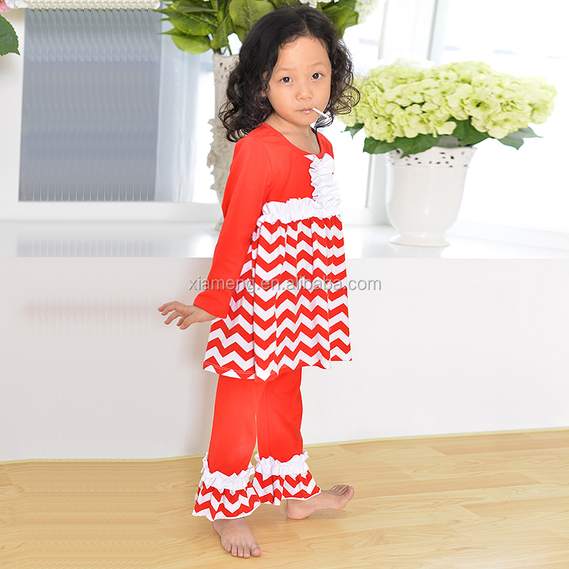 baby girls OEM service clothing set chevron sets clothes